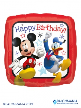 Mickey dirkač happy birthday balon